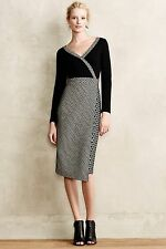 NEW Anthropologie Dacca Dress by Maeve, Black/White, Size 0, 2, 8