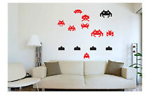 RETRO SPACE INVADERS WALL ART CREATE YOUR OWN DISPLAY VARIOUS SIZES