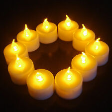 Led Flameless Tealight Candles Electric LED Yellow Candle
