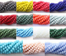 8MM Top Quality Czech Glass Faceted Rondelle Bead Jewelry Making DIY 20/50Pcs