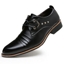 NEW Men's Casual Pointed Leather Lace Up Wedding Formal Dress Shoes Oxfords M50