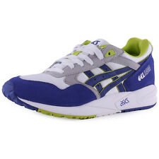 Asics Gel-Saga Mens Suede & Textile White Blue Trainers New Shoes All Sizes