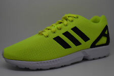 Mens Adidas Originals ZX Flux M22508 Electric Yellow Green Black White Sneakers