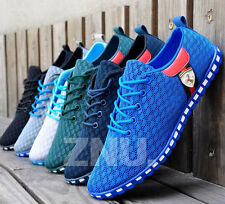 Summer Mens Breathable Recreational Casual Mesh Lace-up Shoes UK Size 6-9.5 New
