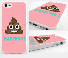 emoji emoticon thin case,cover for iPhone,iPod>Poo happens,pink,smiley poop face