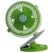 New Portable Mini Clip-on Fan USB Battery W/ Stand Gear Switch Adjustment Fan