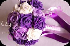 NOZZE fiori, viola da sposa, Bridesmaids, FLOWER GIRL Posy Bouquet, colore Choce