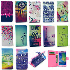 Flip Leather Patterned Wallet Card Holder Case Cover Pouch For Samsung Galaxy