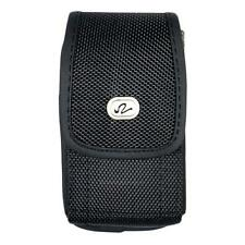 Black Vertical Rugged Nylon Holster Pouch Cover Case Clip Fits Otterbox Defender