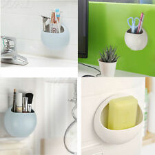 Wall Suction Cups Toothbrush Toothpaste Holder Kitchen Bathroom Stuff Organizer