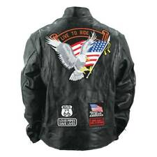 Men's Genuine Buffalo Leather Motorcycle Biker Jacket