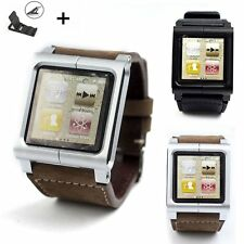 Leather Multi-Touch Wrist Strap Watch Band for iPod Nano 6 6th generation