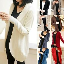 Women Long Sleeve Open Cardigan Sweater Tops Knitwear Knitted Coat Outwear