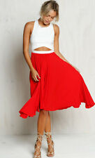 Stunning red & white cocktail dress t-bar back & pleated skirt BNWT 6-12 FORMAL