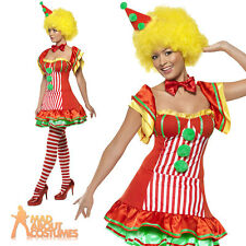 Adult Boo Boo Clown Costume Ladies Sexy Circus Fancy Dress