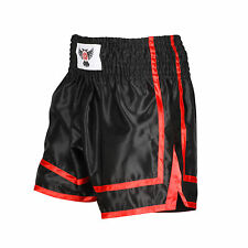 Black and Red MMA Fight Shorts Muay Thai Cage Fighting Grappling Boxing Crossfit
