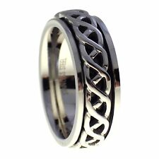 Celtic Spinner Ring | Stainless Steel Celtic Worry Band Ring Size 8, 12, 13