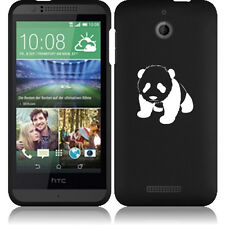 For HTC Desire 510 Rubber Hard Snap On 2 Piece Case Cover Baby Panda