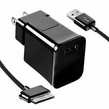 Travel Wall Charger and USB Charger Cable for Samsung Galaxy Tab Tablet USA