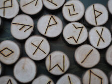 Willow Elder Futhark Runes - with Bag & Information sheet - Pagan, Wicca,  Norse