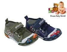 ATLETICO boys canvas shoes / trainers size 3 - 7 UK NEW in 2 colours!