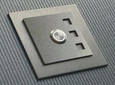 01 Switch Bell Door Bell Push Button LED Stainless Steel Panel