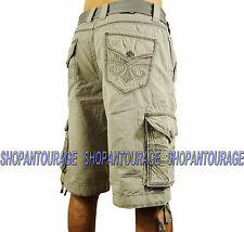 AFFLICTION Commitment 110WS087 Men`s New Cement Cargo Shorts