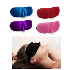 3D Soft Eye Sleep Mask Padded Shade Cover Travel Relax Sleeping Blindfold New