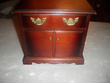 VINTAGE WOOD JEWELRY BOX MINIATURE SIDEBOARD FURNITURE VERY UNIQUE