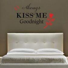 ALWAYS KISS ME GOODNIGHT wall sticker quote vinyl art wall decals