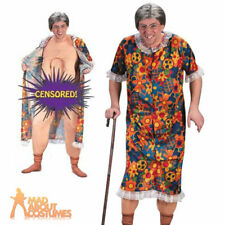 Groping Gravity Granny Costume Old Lady Flasher Fancy Dress Outfit Stag Party