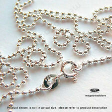 2mm Ball Chain 925 Sterling Silver Necklace 16in 18in 20in 24in 30in  FC22