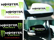 Monster energy Rearview mirror Monster ghost scratches Reflective car stickers
