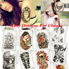 3D Large Temporary Tattoos Dragon Fish Animal Fake Tatoo Sticker Body Art Tattoo