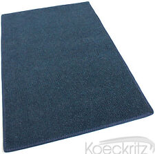 Dark Blue Indoor Outdoor Area Rug Carpet Non-Skid Marine Backing Many Sizes