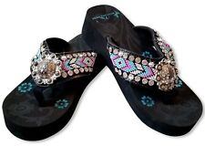 MONTANA WEST AZTEC HAND BEADED COLLECTION FLIP FLOPS BD16-SO91-PICK SIZES