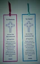 First Holy Communion Gift Bookmark Keepsake Gift Holy Confirmation Day Gift