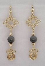 Dangle Attachment or Earrings - Gold or Silver with Gemstones or Beads #016
