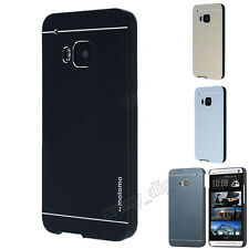 Luxury Motomo Metal Aluminum Brushed + PC Hard Case Cover For HTC ONE M7 M8 M9