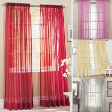 Multi-Colors Door Window Curtain Drape Panel or Scarf Assorted Scarf Sheer Voile