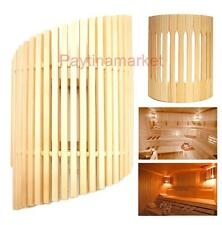 Wooden Lampshade for Baths and Saunas