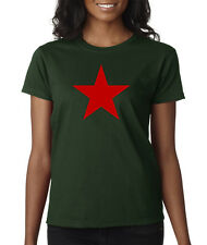 Red Star China Russia CCCP USSR Military Army Ladies T-Shirt S-2XL