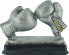 HEAVY DOUBLE BOXING GLOVE TROPHY IN 2 SIZES, ENGRAVED FREE