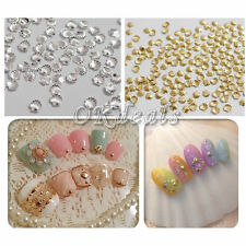 100pcs Alloy Metal Shell Manicure Studs Beads For Nail Art Phone Craft DIY Sk