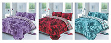 NEW Rose Duvet Set Quilt Bed cover single double king floral rose