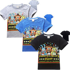 New FNAF Five Nights at Freddy's Horror Video Game Large children T-shirt