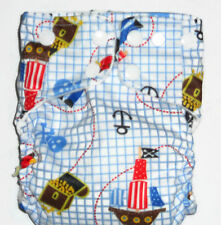 AIO Cloth diaper w/ Bamboo Hemp Fleece & Zorb Fabric- Little Pirate Pattern