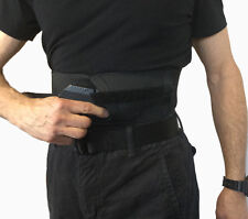 Side Load Belly Band Gun Holster Concealed Pull Through Carry Black or White
