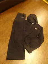 THE NORTH FACE GIRLS M MEDIUM BLACK FLEECE ZIP UP HOODIE PANT SET