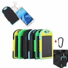 12000mAh Li-ion Cell Solar Power Bank External Battery 2 USB Charger For Phone